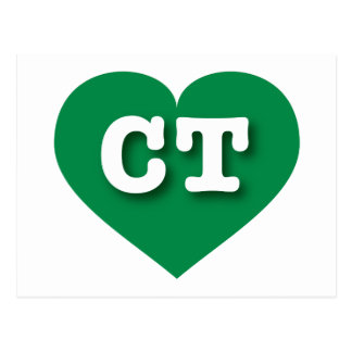 Connecticut CT green heart Post Cards