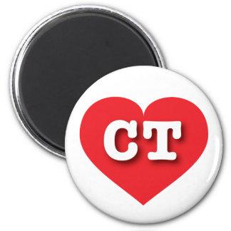 Connecticut CT red heart Fridge Magnet