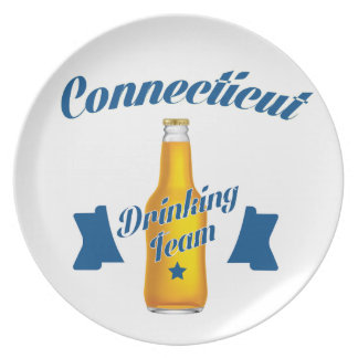 Connecticut Drinking team Plate