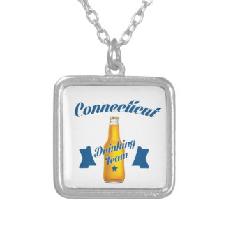 Connecticut Drinking team Silver Plated Necklace