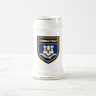 Connecticut Flag Beer Stein