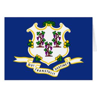 Connecticut Flag Stationery Note Card