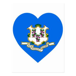 Connecticut Flag Heart Post Cards