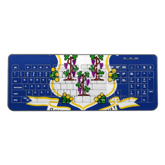 CONNECTICUT FLAG WIRELESS KEYBOARD