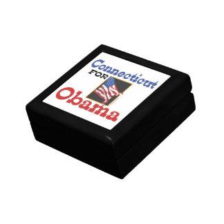 Connecticut for Obama Keepsake Boxes