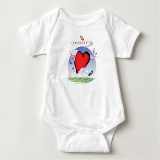 connecticut head heart, tony fernandes baby bodysuit