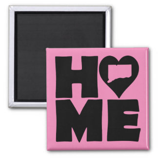 Connecticut Home Heart State Fridge Magnet