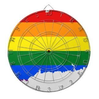 Connecticut LGBT Flag Map Dartboard