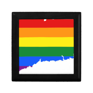 Connecticut LGBT Flag Map Gift Box