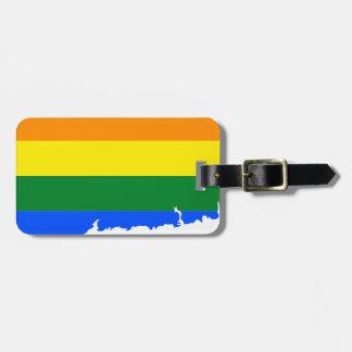 Connecticut LGBT Flag Map Luggage Tag