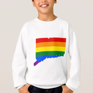 Connecticut LGBT Flag Map Sweatshirt