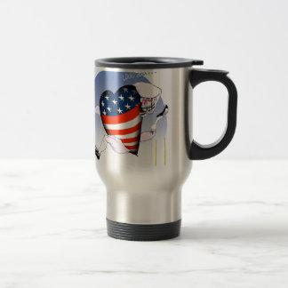 connecticut loud and proud, tony fernandes travel mug