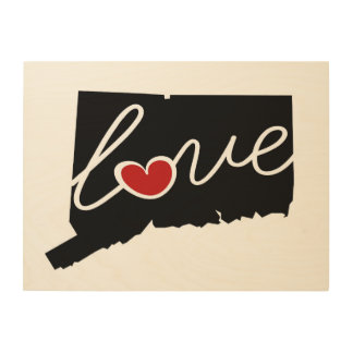 Connecticut Love!  Gifts for CT Lovers Wood Canvases