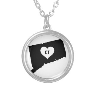 Connecticut Love Silver Plated Necklace
