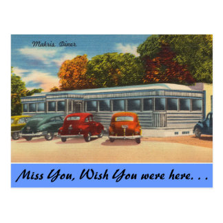 Connecticut, Makris Diner Postcard