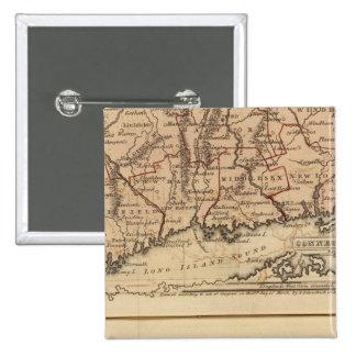 Connecticut, NewEngland 15 Cm Square Badge