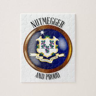 Connecticut Proud Flag Button Jigsaw Puzzle