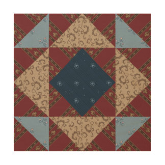 Connecticut Quilt Block Wood Panel Wall Art