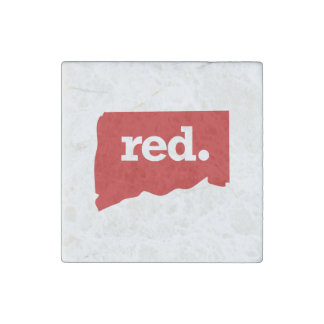 CONNECTICUT RED STATE STONE MAGNET