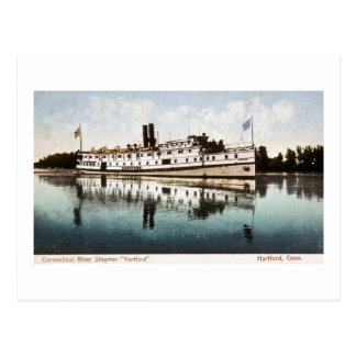 "Connecticut River Steamer ""Hartford"" Postcard"