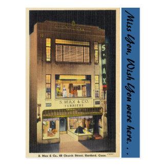Connecticut, S. Max & Co. Postcard