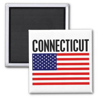 Connecticut, Stars and Stripes Magnet