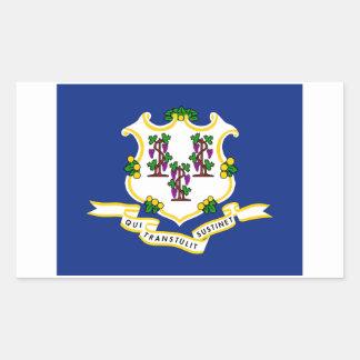 Connecticut State Flag Sticker - 4 per sheet