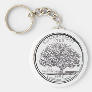 Connecticut State Quarter Key Ring