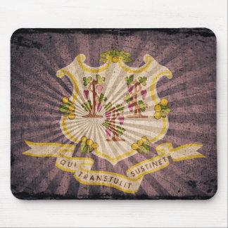 Connecticut sunburst flag souvenir mouse pad