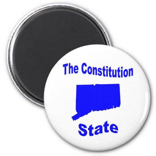 Connecticut: The Constitution State Fridge Magnet