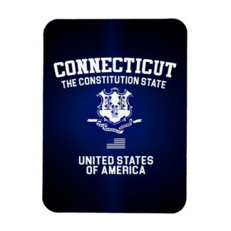 Connecticut The Constitution State Rectangular Photo Magnet