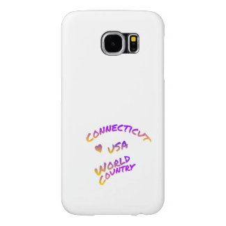 Connecticut usa world country, colorful text art samsung galaxy s6 cases