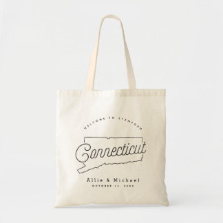 Connecticut Wedding Welcome Tote Bag