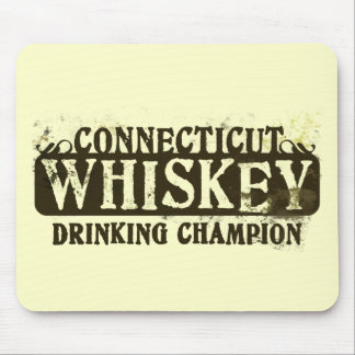 Connecticut Whiskey Drinking Champion Mouse Mats