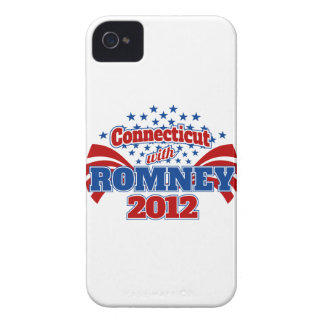 Connecticut with Romney 2012 Case-Mate iPhone 4 Cases