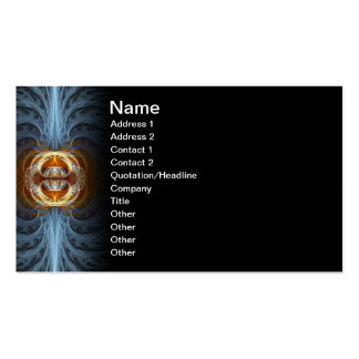 Connection Fractal Abstract Art Business Card Template