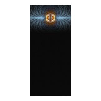 Connection Fractal Abstract Art Custom Rack Card