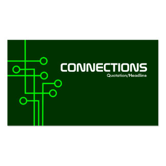 Connections - Dark Green Business Card