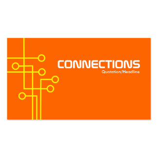 Connections - Yellow and Orange Business Cards