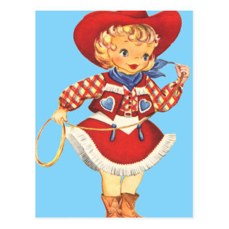 Connie Cowgirl Postcard