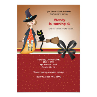 Conning Witch Halloween Invitation