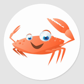 Connor The Crab Classic Round Sticker
