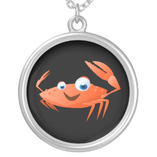 Connor The Crab Silver Plated Necklace