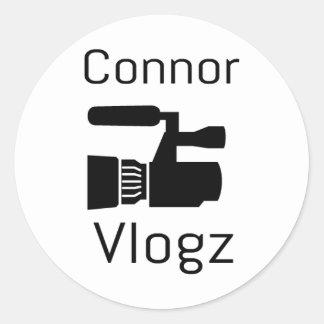 Connor Vlogz stickers! Classic Round Sticker
