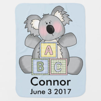 Connor's Personalized Koala Baby Blanket