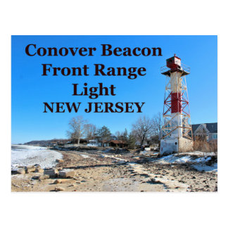 Conover Beacon Front Range Light, NJ Postcard