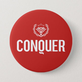 Conquer 7.5 Cm Round Badge