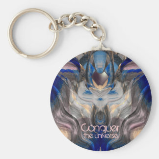 Conquer the Universe Basic Round Button Key Ring