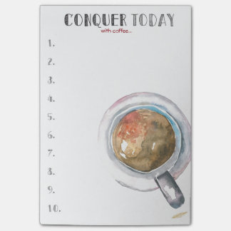 Conquer Today (with coffee...) Post-it Notes