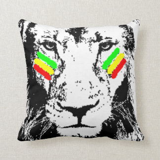 Conquering Lion Rasta Eye Black Throw Pillow